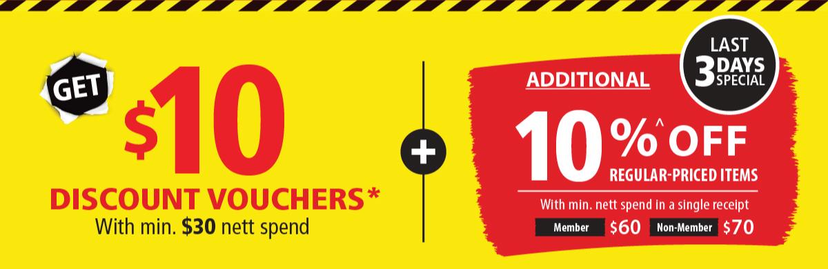 Get $10 Discount Vouchers