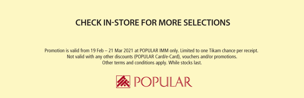 POPULAR IMM Outlet Sale