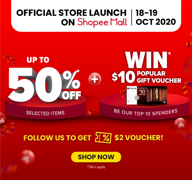 POPULAR Stores Launch on Shopee Mall!