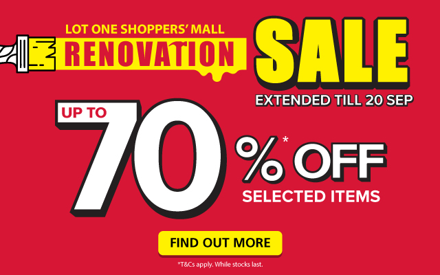 POPULAR Lot One Shoppers' Mall Renovation Sale