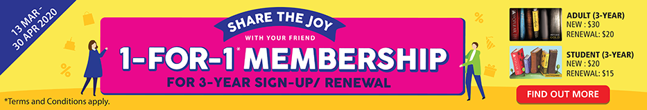 Share the Joy with your Friend - 1-For-1 Membership