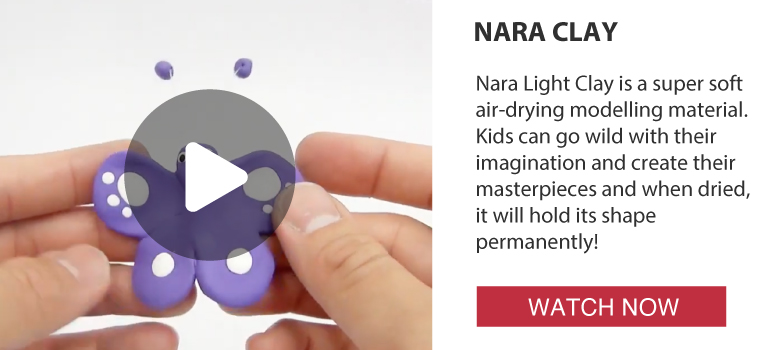 Activities: NARA Tutorial: LIGHT WEIGHT AIRDRY CLAY - how to make 'BUTTERFLY'