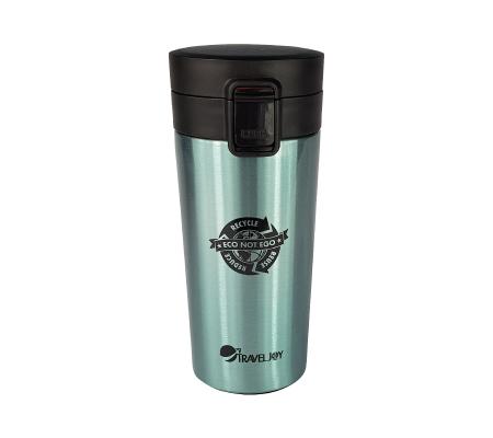 Travel Joy Eco Insulated Flip-up Mug